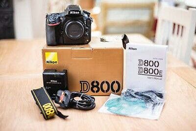 Nikon D800 Full Frame DSLR 36MP Body Only Boxed with Battery, Charger + Software