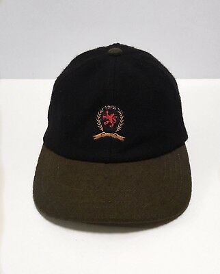 dcc48693f7a Rare Vintage Tommy Hilfiger Wool Cap Embroidered Tommy Crest Blue Gray Lid  Hat