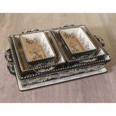 Baum Ceramic Bakeware Oven To Table 6 Piece Set Black