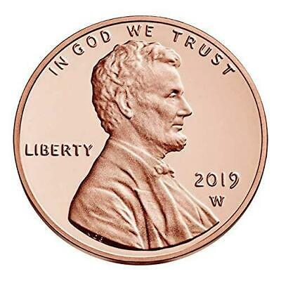 "2019 ""W"" Lincoln Penny Union Shield Cent, PROOF, Single Coin, Sealed in Mint Pac"