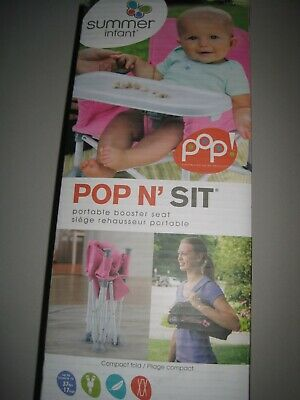 Summer Infant Pop and Sit Portable Booster, Pink