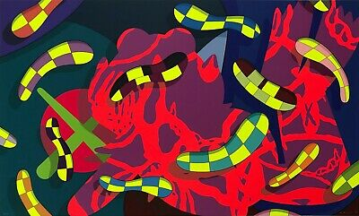KAWS Alone Again 2018 Original Serigraph on Paper mint condition never orig pack