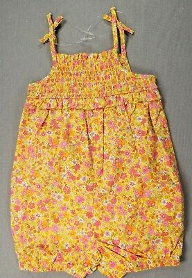 4cfc09eeb7f First Impressions 3-6 Month Baby Girl Yellow   Pink Flower Romper Outfit