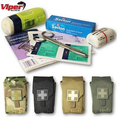 Viper First Aid Kit & Molle Pouch Emergency Medical Survival Army Cadet Airsoft