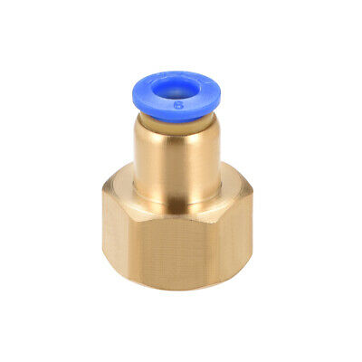 "Push to Connect Tube Fitting Adapter 6mm OD x G3/8"" Female"