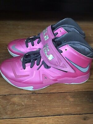 4b42ec47eaf Nike Lebron Soldier 7 PINK 599818 600 Youth Basketball Shoes Size 6 Y 6Y  boys