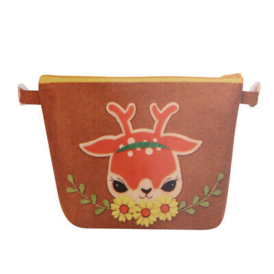 Sika Deer Pattern Felt Applique Kit Handmade Coin Zipper Purse Felt Material