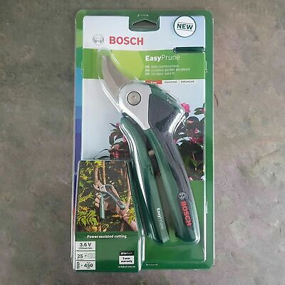 Bosch EasyPrune Cordless Powered Secateurs (Integrated 3.6V Lithium-Ion Battery)
