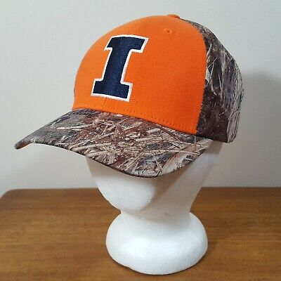 sports shoes c7e9c 7def9 University of Illinois Fighting Illini Mossy Oak Camouflage Baseball Cap Hat