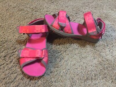 1c7a3543291e GIRLS MERRELL SURF Strap Pink Orange Water Sand Strappy Sandals Size ...