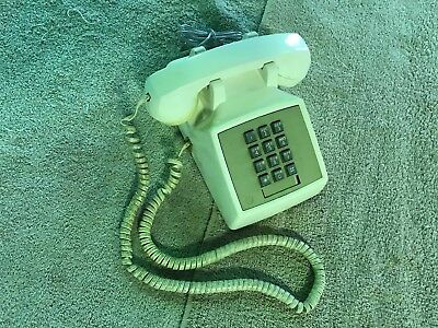 Western Electric Ivory Model 2500DMG TouchTone Desk Phone - Working