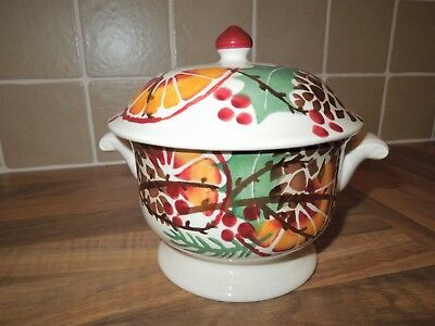 Emma Bridgewater Rare Discontinued Holly Wreath Small Tureen, 1st Quality