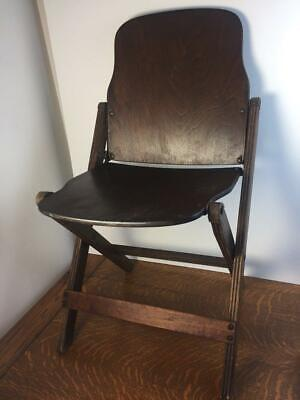 Vintage 40s US American Seating Co. WOODEN FOLDING CHAIR Grand Rapids, Michigan