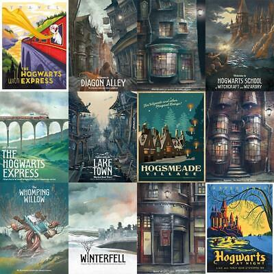 Harry Potter Film Movie Posters White