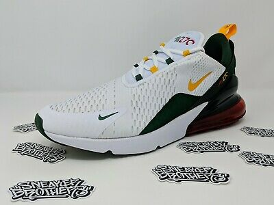 NIKE AIR MAX 270 Seattle Home Sonics White University Gold Fir Green CD7786 100