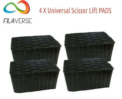 Set 4 rubber pads 160x120x60 mm for hydraulic scissors lifts