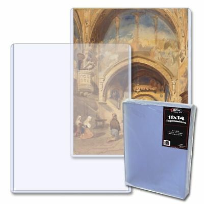 11 X 14 inch PHOTOGRAPH, DOCUMENT OR CARD TOPLOADER HOLDER, x 25 pack