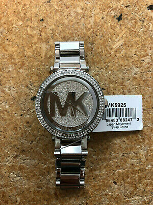5df76d90f57f MICHAEL KORS PARKER Silver Crystal Pave Dial Ladies Watch MK5925 ...