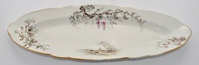 Large Antique French Platter - Game Birds & Squirrel - 59.8cm x 22.8cm