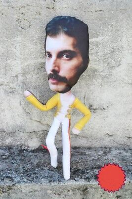 FREDY MERCURY QUEEN   Handmade ACTION FIGURE 45 x 15 Cm - Silk Fleece