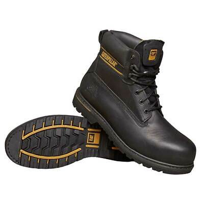 CAT catblackholton10 Safety Shoes Work Boot Black Holton Size 10 Water Resistant