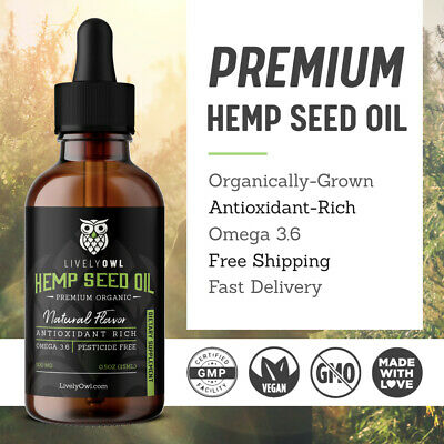 Organic Hemp Seed Oil Drops - 500mg - Premium Pain Relief - Antioxidant Rich