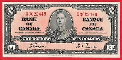 ✪ 1937 $2 Bank of Canada Note Coyne-Towers B/R Prefix - AU