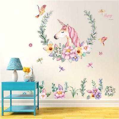 Removable Wall Sticker Unicorn Decal For Kids Nursery Baby Room Home Decor QK