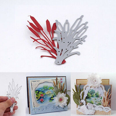 Cattail Plant Cutting Dies Stencils for DIY Scrapbooking Photo Album Decor QK