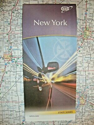 NEW YORK STATE MAP Travel Road Map Vacation AAA  Roadmap 2019-2020 - FREE SHIP!