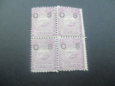 NSW Stamps: Block of 4 Overprint OS  Mint     (v514)