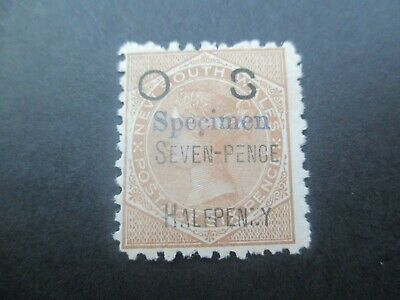 NSW Stamps: BROKEN S Specimen Overprint OS  Mint     (v517)