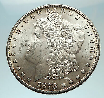 1878 UNITED STATES of America SILVER Morgan Antique US Dollar Coin EAGLE i76556