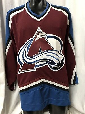 MED CCM Colorado Avalanche NHL Retro Ice-Hockey Jersey Maglia Maillot Trikot