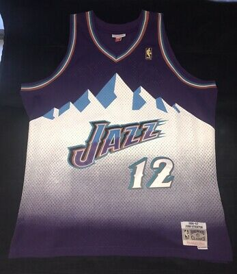 a6294b8e481 Men u0027s Utah Jazz John Stockton Swingman Jersey