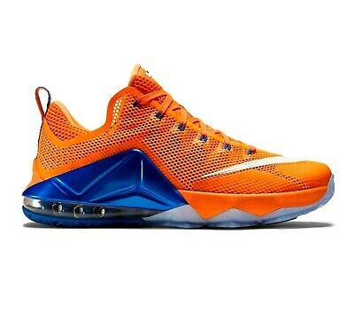 pretty nice 935cf 527c6 Nike Lebron XII Low Citrus Orange Blue 724557 838 Mens Basketball Size 10