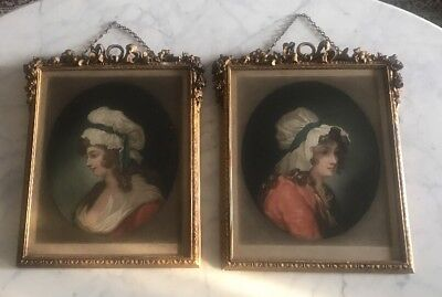 Antique Pair of H.T.Greenhead Mezzotint Engravings 1909  After George Morland