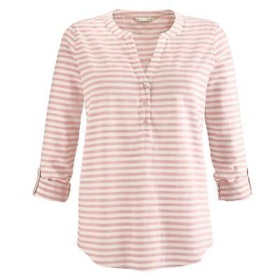 c76ff4e490 Tom Tailor Denim Damen Blusen 3/4-Arm-Blusen Blusenshirts Armkleider Mode  rosé