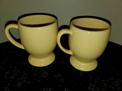 Southern Living Gail Pittman Hospitality Collection Yellow Footed Mugs Set Of 2
