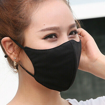 Fashion Unisex Anti-Dust UV Cotton Mouth Face Mask Men Black Cycling Respirator