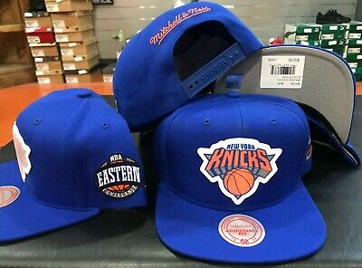 separation shoes 39073 0d040 Mitchell   Ness NEW YORK KNICKS Silicon grass SNAP snapback CAP Hat blue NBA