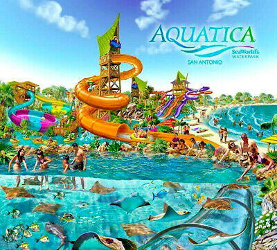 Aquatica San Antonio Texas Waterpark Ticket Saving A Promo Discount Tool $24.99