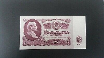 World Banknotes USSR Russia 1961 25 Twenty Five Roubles Uncirculated Pick #234b