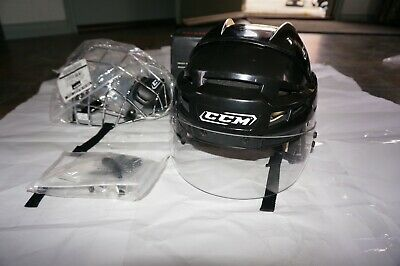 CCM ICE HOCKEY HELMET PROTECTIVE FACE MASK with OAKLEY SHIELD Size S