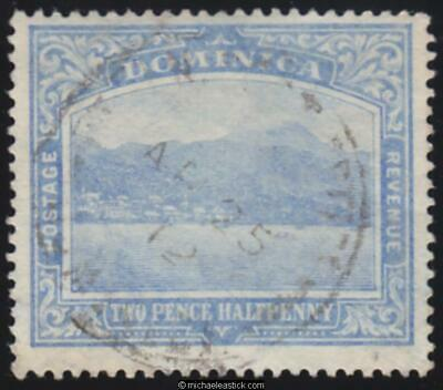 1908 Dominica 2½d Blue, SG 50, used