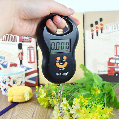 Portable LCD Digital Hanging Luggage Weight Scale Backlight 50Kg / 5g Kg Lb OZ