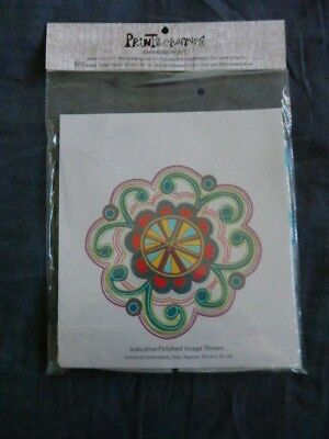 Prints Charming Embroidery Kit Funky Curly Flower **NEW**