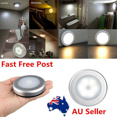 6 LED PIR Motion Sensor Night Light Infrared Wireless Wall Lamp Battery Powered