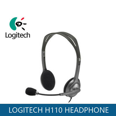 Logitech H110 Wired Stereo Headphone w/ Noise Cancelling Headset Mic for PC AU