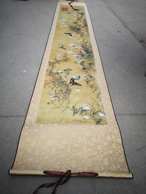 Details about  Rare antique chinese museum painting scroll Bamboo 百碟图
